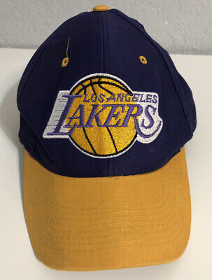 VINTAGE LOGO 7 NBA LOS ANGELES LAKERS Hat Snap Back PURPLE/GOLD