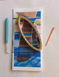 New Knitting Board Sock Loom hook Craft LegWarmers Kit wristlet Fast U.S. Ship
