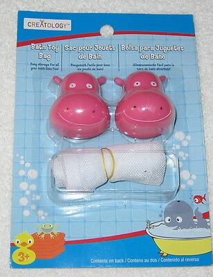 Creatology Bath Toy Bag With Pink Animals (hippo's ????)