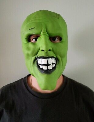 Vintage 1994 Halloween Mask Jim Carrey THE MASK by CINEMA SECRETS - The Mask Halloween Mask