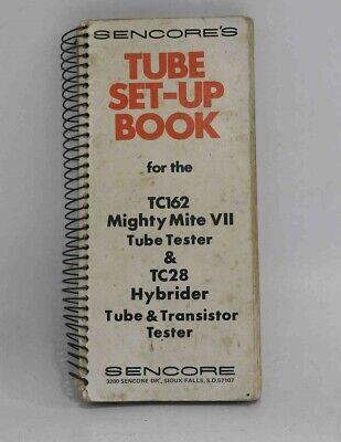 Original Spiral Bound Tube Setting Manual For Sencore Tc162 Tc128 Tube Testers