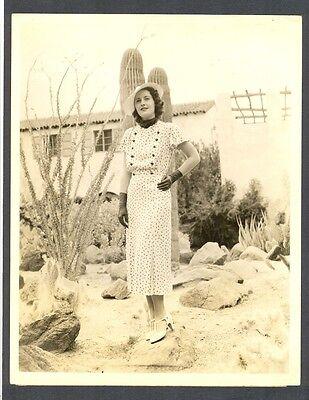 BARBARA STANWYCK FASHION PHOTO IN THE SOUTHWESTERN DESERT - MEXICO ? ARIZONA ?