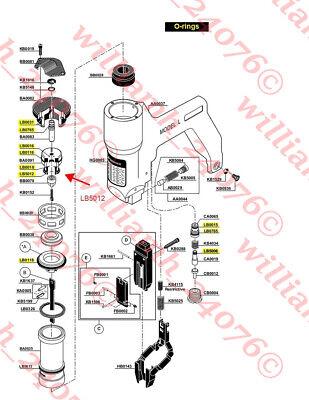 Senco Model L Ls Pin Nailer Complete O-ring Kit Lb5012 Firing Valve Seal