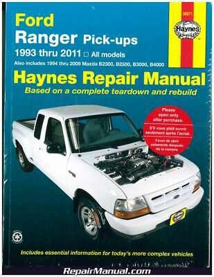 Haynes Ford Ranger Pickups 1993-2011 Repair Manual : H36071 (Ford Ranger Haynes)