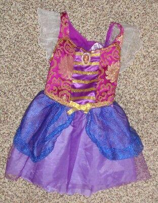 Girls Disney Brave Merida Halloween Play Dress Up Costume Dress Size 4-6X EUC