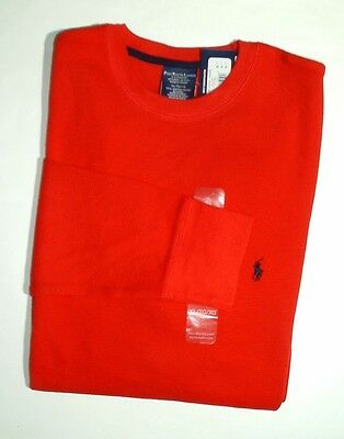 POLO RALPH LAUREN Sleepwear Men Size XL Waffle Knit Crew neck Long-sleeves NWT