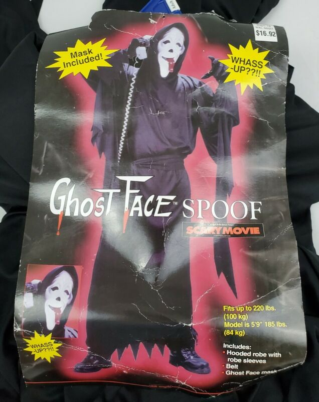 Vintage 1993 Scream Scary Movie Ghost Face Spoof Mask Fun World Easter Unlimited