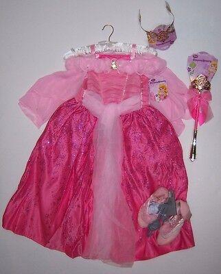 NWT Disney Store S 5-6 Deluxe Sleeping Beauty Aurora Costume Tiara Wand & Shoes - Aurora Tiara
