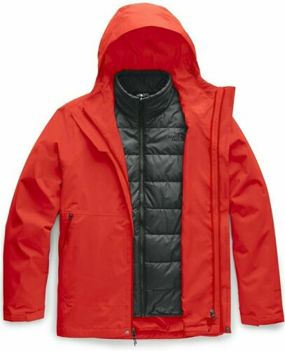 The North Face Carto Triclimate Hooded Jacket - Mens Fiery Red Asphault Grey