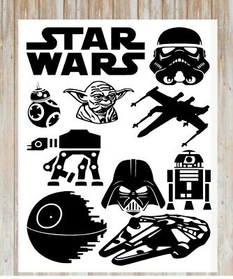 Star Wars inspired A4 Sticker sheet ships the force stickers decal vinyl trooper