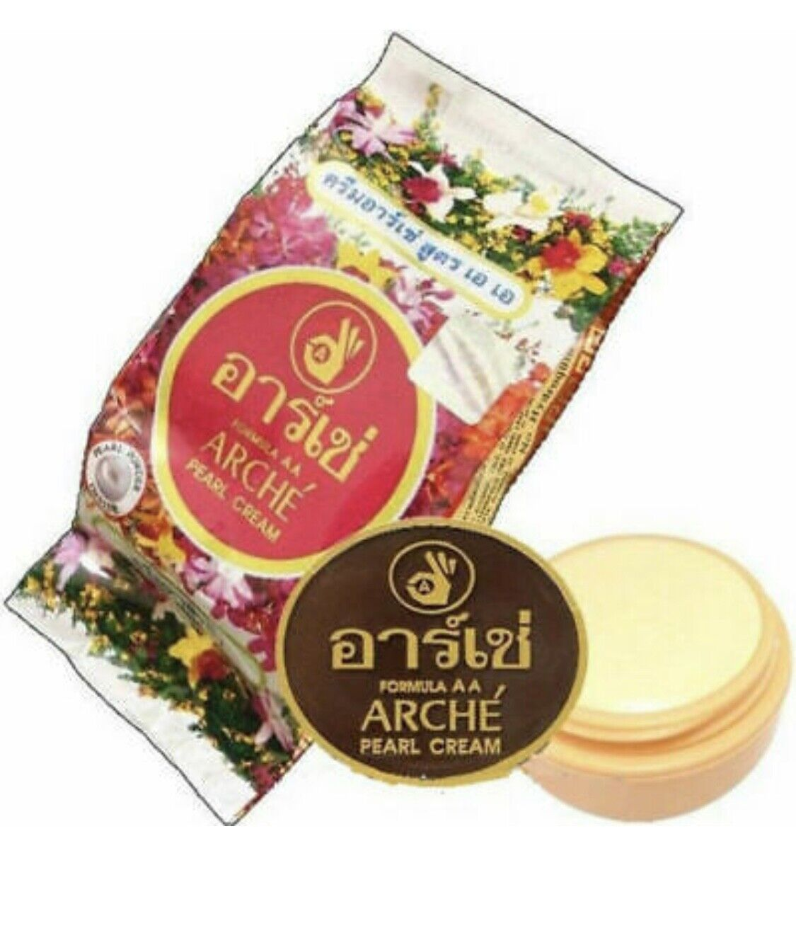 (10pcs)ARCHE PEARL WHITENING CREAM REMOVE ACNE DARK SPOT Moisture Foundation 3g