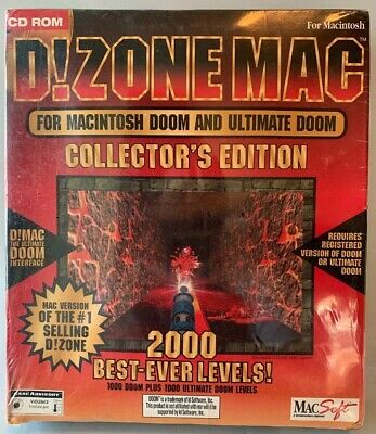 D!ZONE Mac 2000 Best-Ever Levels The Ultimate Doom & Doom II Rare 1995 Sealed