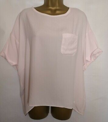 iBLUES Max Mara Size UK 16 BNWT Silk Blend Blush Pink Top 0269
