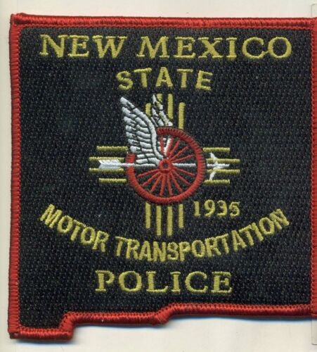 State Shaped Motors New Mexico State Police Traffic Transportation NM