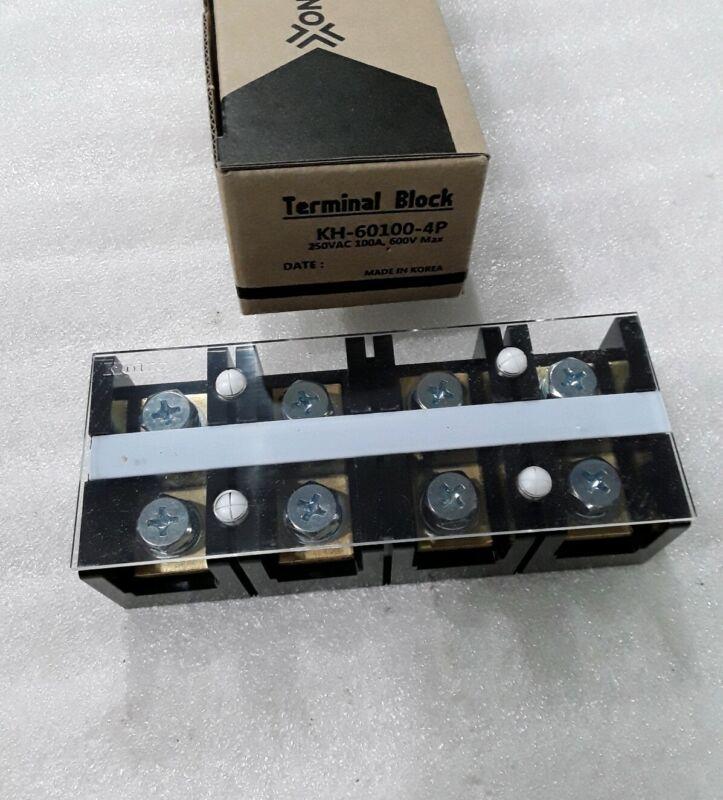 KH-60100-4 KOINO TERMINAL BLOCK 250VAC 100AMP 600V MAX NEW