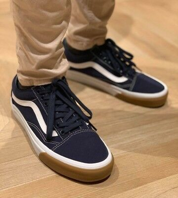 Vans OLD SKOOL CANVAS SKATE Shoes Size Men's 12 GUM BUMPER / DRESS BLUES