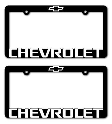 (2)  CHEVROLET-License Plate Frame-Z71-TAHOE-CAMARO-COLORADO-SUBURBAN-TRAVERSE Chevrolet Tahoe Front License Plate