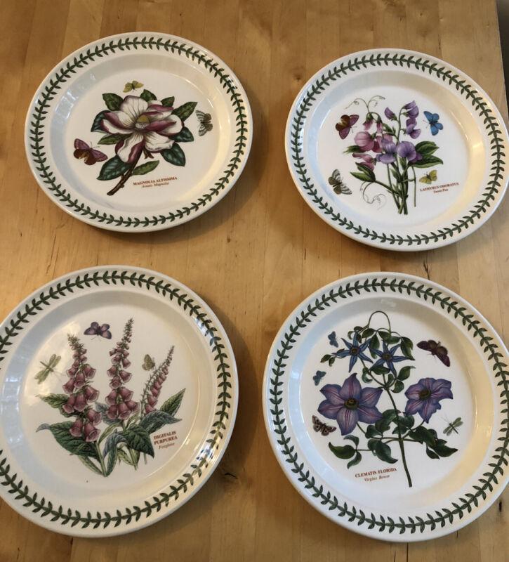"Portmeirion Botanic Garden 4 Dinner Plates 10.5"" EUC"