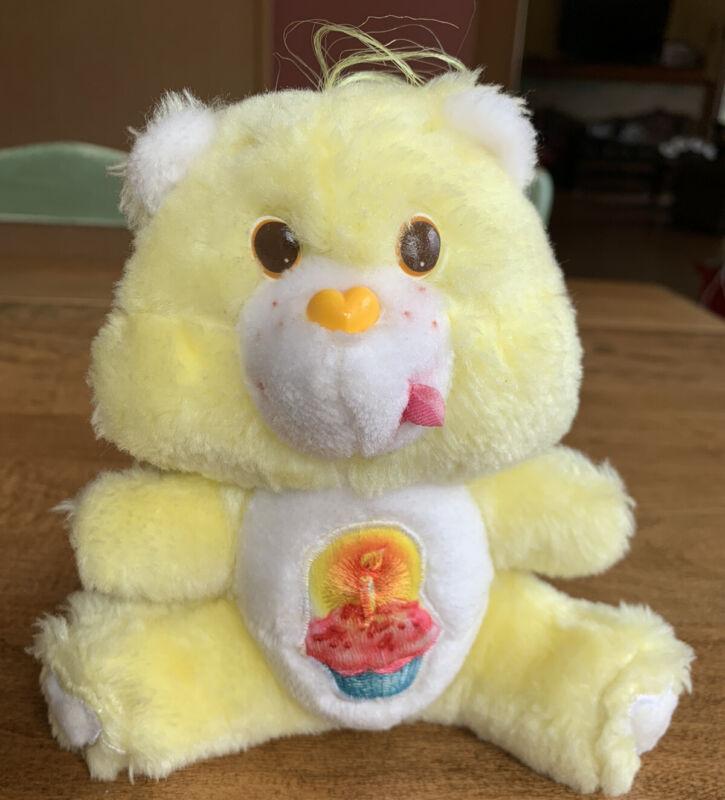 "Vintage 1983 Care Bear Mini Plush Birthday Bear 6"""