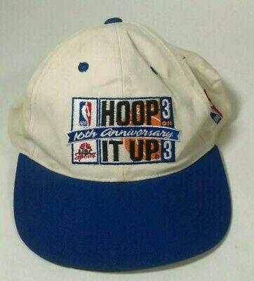 Vintage HOOP IT UP NBA 3 on 3 Hat Sports Specialties Snapback 10th Anniversary