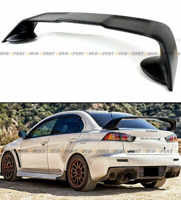 For 2008-17 Mitsubishi Lancer EVO 10 X Style Primer Blk Rear Trunk Spoiler Wing for sale  La Puente