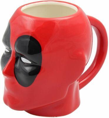 New Marvel Deadpool Character 3D Molded Ceramic Hand Painted Coffee Mug Hand Painted Coffee