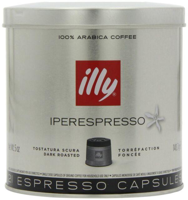 Illy Dark Roast Iperespresso Coffee 21 Capsules (Pack Of 2, Total 42 Capsules)
