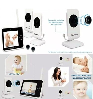 """Babysense Video Baby Monitor 3.5"""" with 2 Cameras + Wide Angle Lens"""