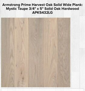 """Armstrong 3/4"""" * 5"""" Solid Oak Flooring"""
