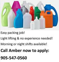 PLASTIC BOTTLE FACTORY - LIGHT EASY WORK IN ANCASTER!