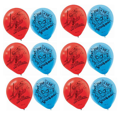 SPIDER MAN Webbed Wonder Latex Balloons Boy Birthday Decoration Party Supply ~12