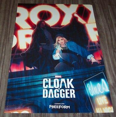 Marvel Comics CLOAK AND DAGGER NEW YORK COMIC CON EXCLUSIVE PROMO POSTER