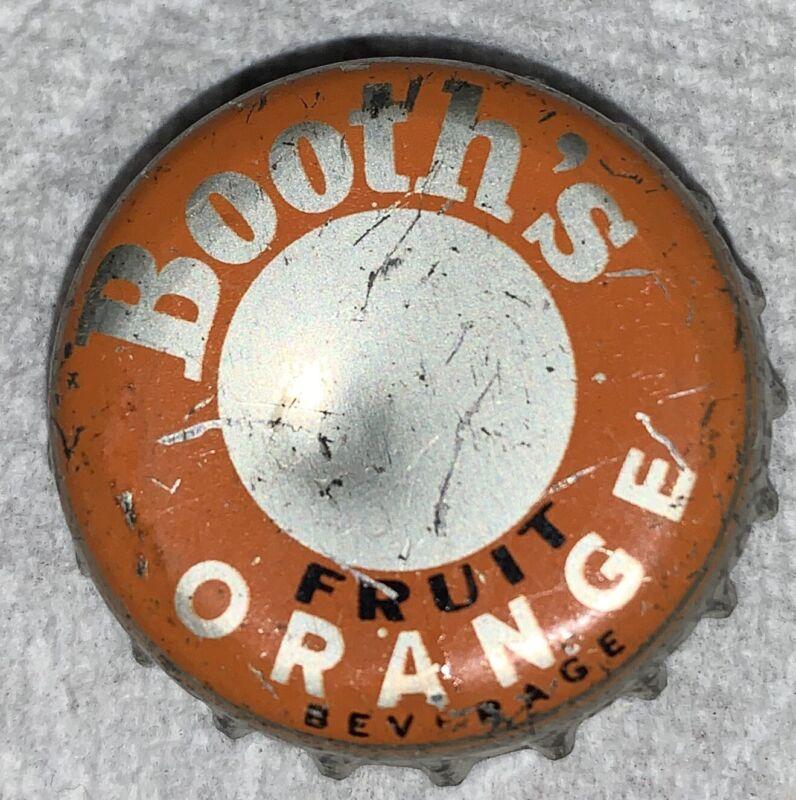 Vintage Booths Philadelphia PA Cork Lined Bottle Cap Crown Orange Drink Soda