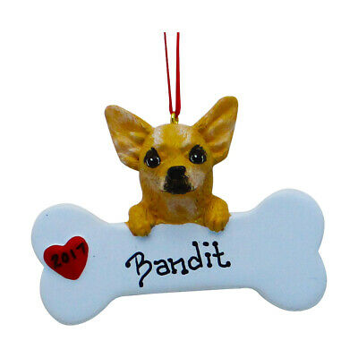 PERSONALIZED Dog Ornament Cute Chihuahua Puppy Christmas Ornament Holiday Gift ()