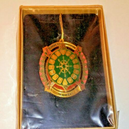 CHOCTAW INDIAN NATION LUKSI THE TURTLE 2012 BRASS CHRISTMAS ORNAMENT