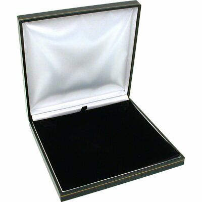 Black Leather Necklace Gift Box Jewelry Display Case 6 12