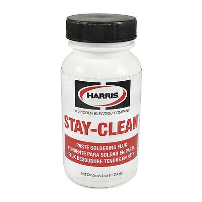 Harris Stay-clean Solder Flux Paste 4 Ounce Jar 40027 Scpf4