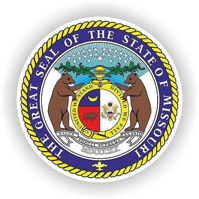 Sticker Seal of Missouri U.S. State Boat Scooter Motorcycle Book Guitar Fridge