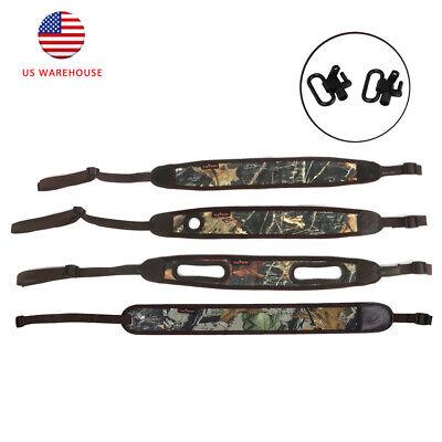Tourbon Camo 2 Point Padded Sling Shotgun Shoulder Strap Rifle Sling Swivels US (Padded Shotgun)