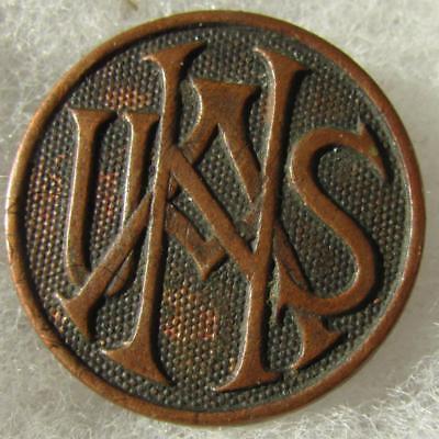 "WW1 US Army ""USNA"" Script Style Collar Disc with nut"