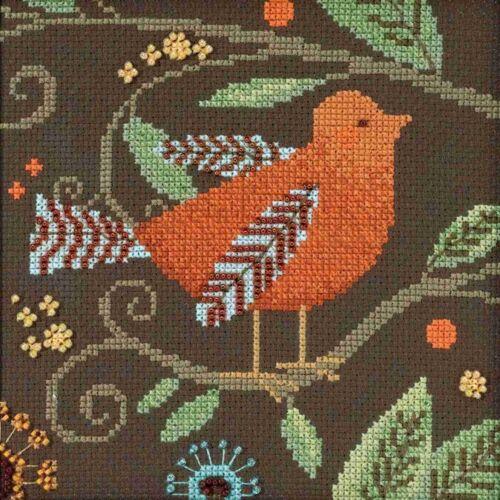Orange Bird Beaded Cross Stitch Kit Mill Hill 2018 Debbie Mu