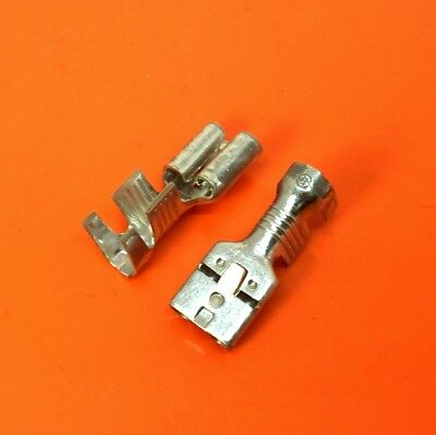 Quality 6.3mm Female Spade Crimp Terminals With Tang For Wire Size 4-6mm²