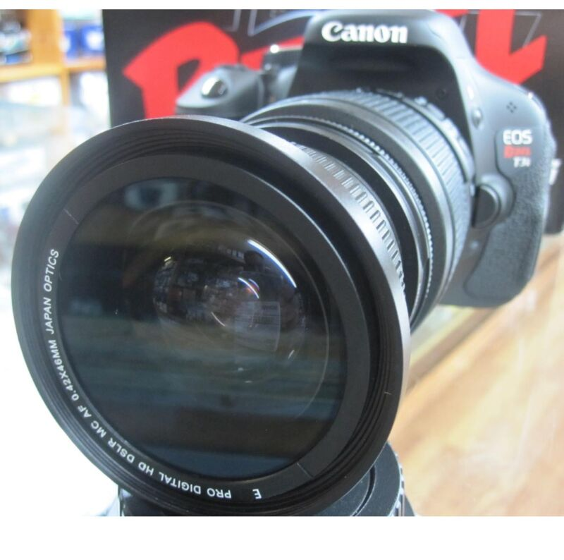fisheye macro for Canon Eos Digital Rebel T/7/6/i SL1 XT XTi XS XSi 1100d 4 lens
