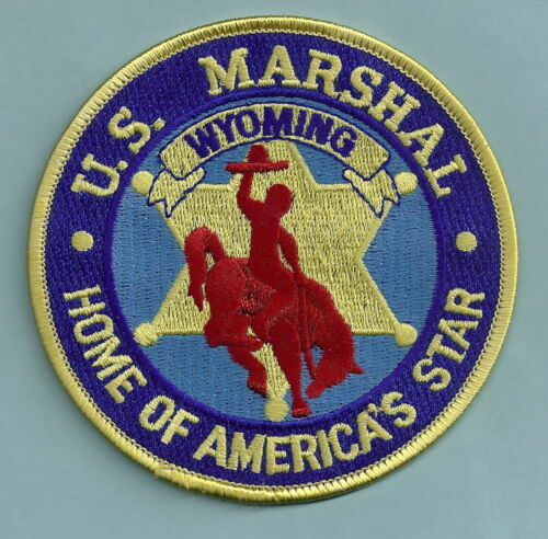 UNITED STATES MARSHAL SERVICE WYOMING SHOULDER PATCH AMERICAS STAR