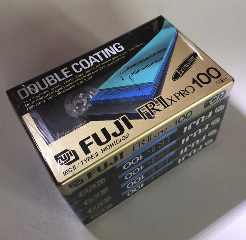New RARE Vintage FUJI FR-II X PRO 100 Extra Slim Double Coating Cassettes 5 Pac