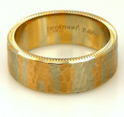 per Amoré L'Eternità 18k red, rose, and white gold man's ring wedding band sz 11 - Red And Gold Wedding