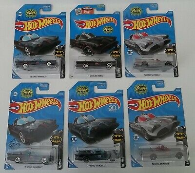 Lot of 6 Hot Wheels Batman 1966 TV Series Batmobiles