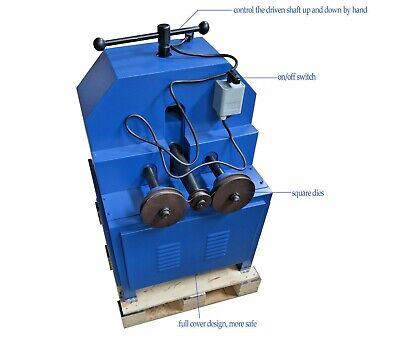 1500w Electric Pipe Bender Roller 9 Round Square Dies Tube Bending Machine