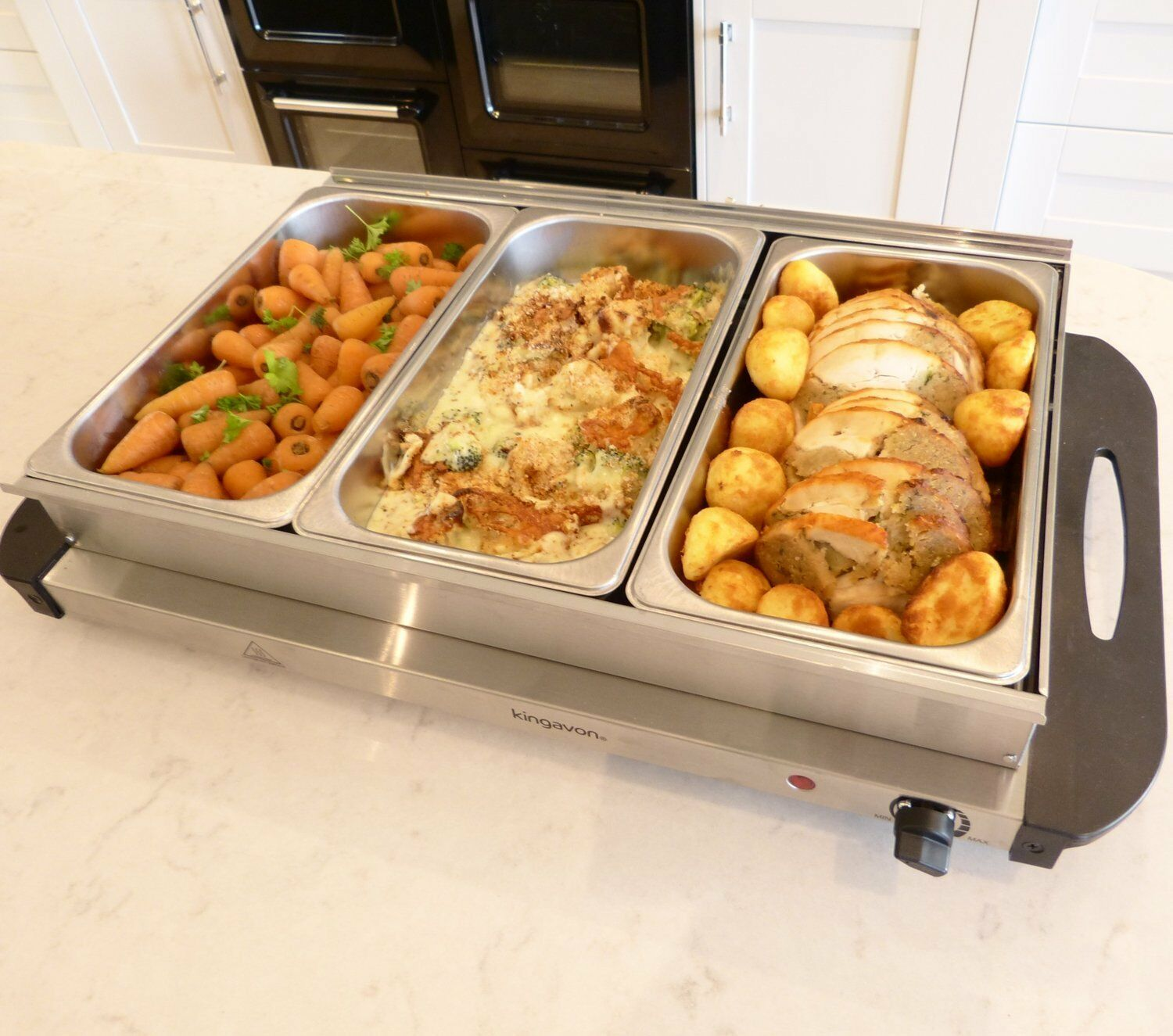 Large Food Warmer ~ W stainless steel l pan large buffet food server