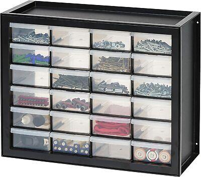 Storage Cabinet Organizer Craft Cabinets Iris Usa Parts Hardware 24 Drawers Blac
